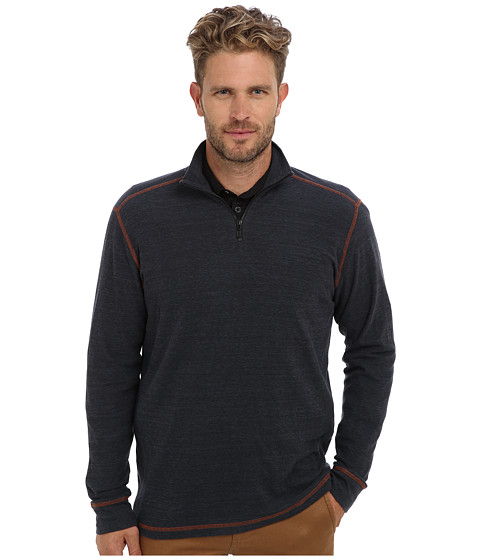 Agave Denim - Watsonville L/S Zip Mock Pullover (China Blue) Men