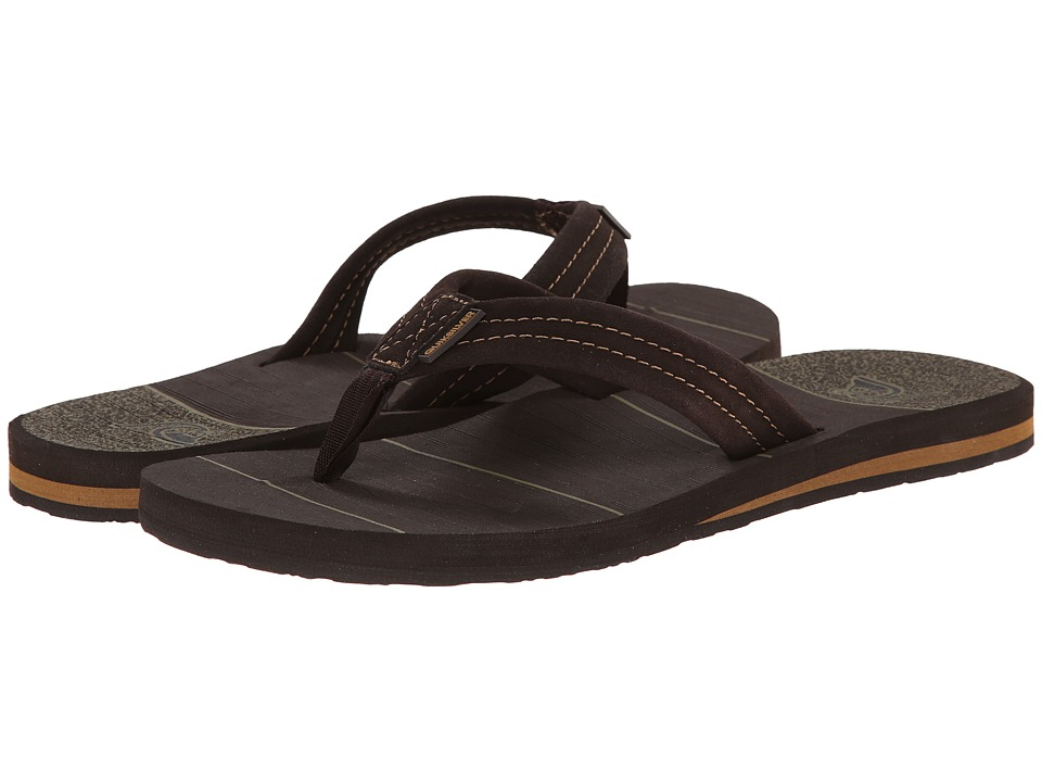 Quiksilver - Carver Suede Art (Brown/Brown/Brown) Men's Sandals