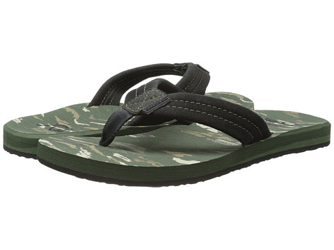 Quiksilver - Carver Suede Art (Green/Green/Black) Men's Sandals