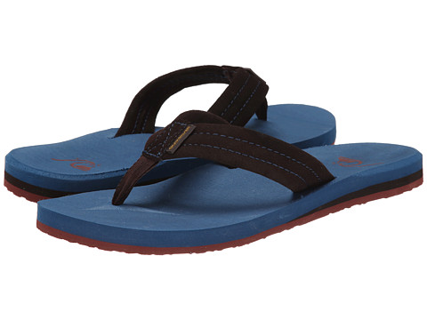 Quiksilver - Carver Suede (Brown/Blue/Red) Men's Sandals