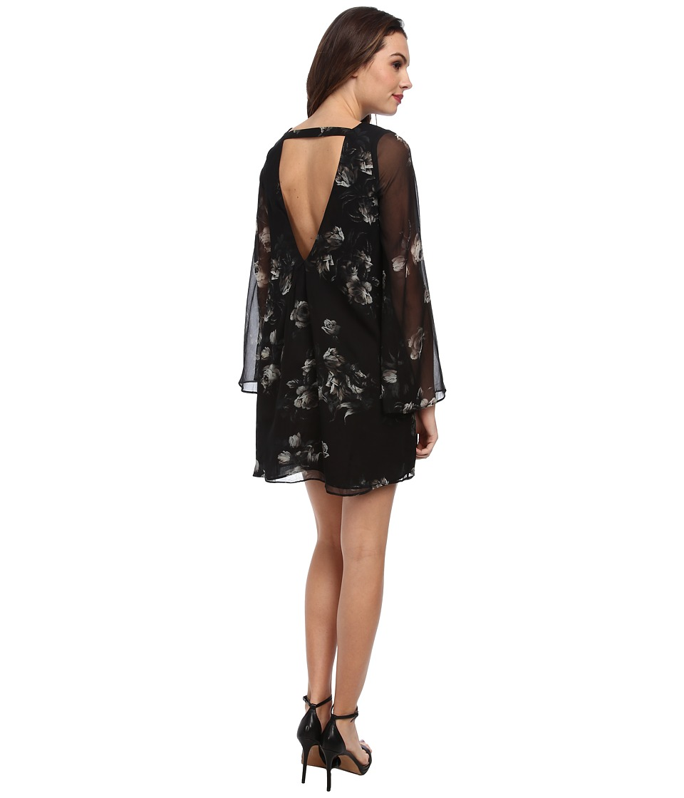 Chaser - Open Back Mini Dress (Floral) Women