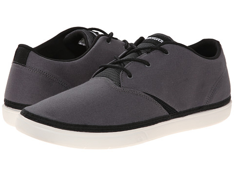 Quiksilver - Trestles Canvas (Grey/Grey/White) Men's Shoes