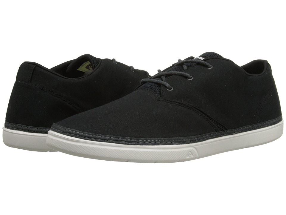 Quiksilver - Trestles Canvas (Black/Grey/White) Men's Shoes