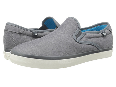Quiksilver - Compass (Grey/Grey/White) Men's Shoes
