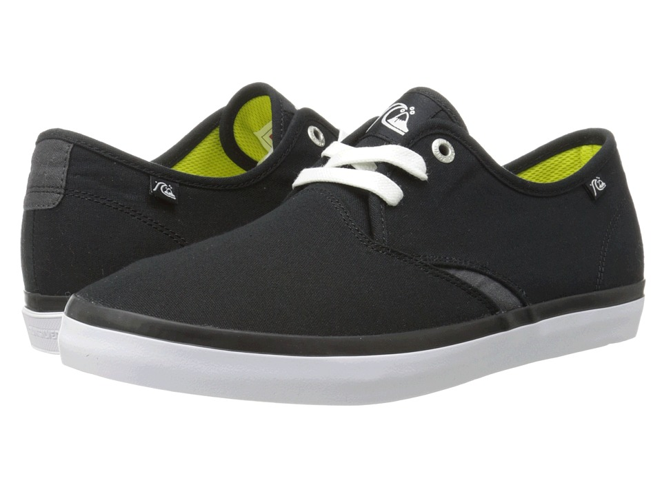 Quiksilver - Shorebreak (Black/Black/White Multi Snake) Men's Shoes