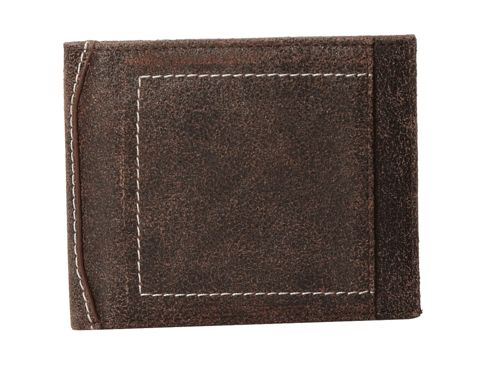 Bill Adler 1981 - Canvas/Cracked Billfold (Brown) Bill-fold Wallet