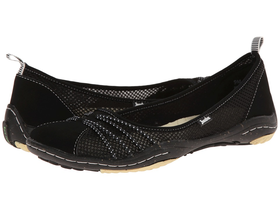 Jambu - Spin-Too - Barefoot (Black/White) Women's Flat Shoes