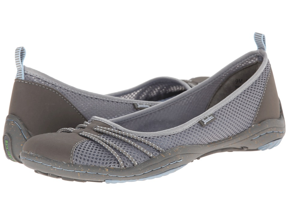 Jambu - Spin-Too - Barefoot (Grey/Stone Blue) Women's Flat Shoes