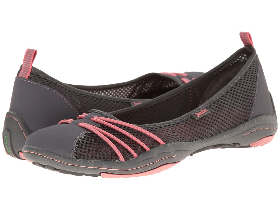 Jambu - Spin-Too - Barefoot (Charcoal/Salmon) Women's Flat Shoes