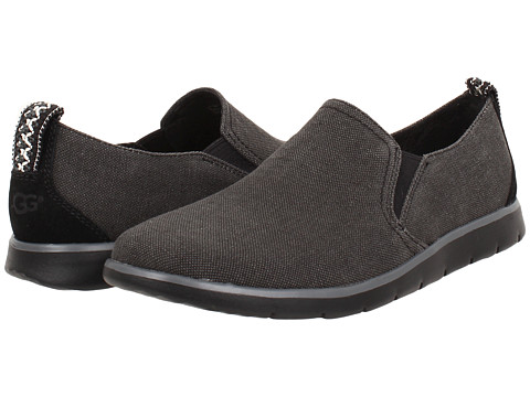 UGG - Conley (Black Canvas) Men's Slip on Shoes