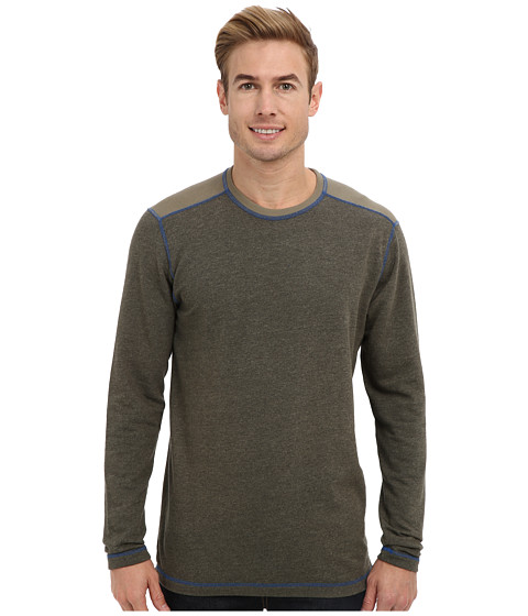 Agave Denim - Bellingham L/S Crew (Dusty Olive) Men