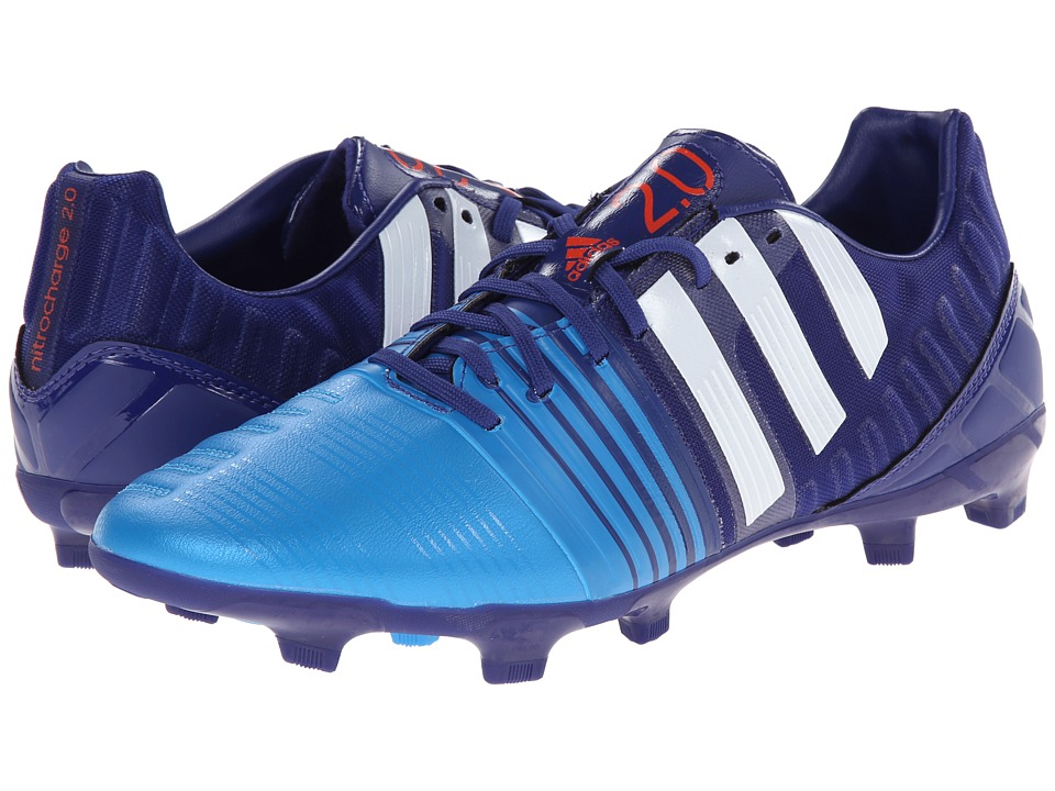 adidas - Nitrocharge 2.0 FG (Amazon Purple/Core White/Lucky Blue MAlange) Men's Soccer Shoes