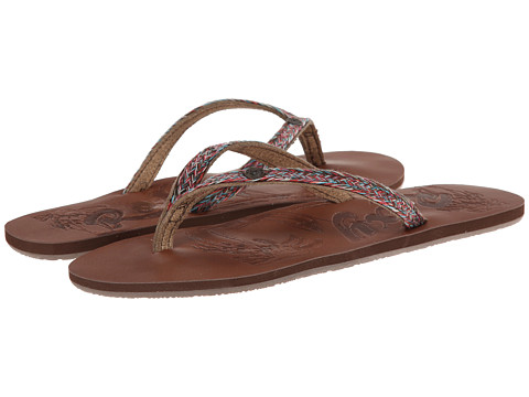 Roxy - Chia II (Brown Combo) Women's Sandals