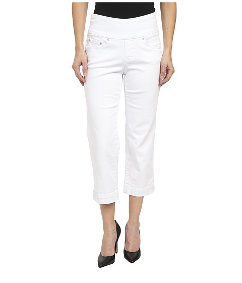 Jag Jeans Petite - Petite Caley Pull-On Crop Classic Fit in White (White) Women