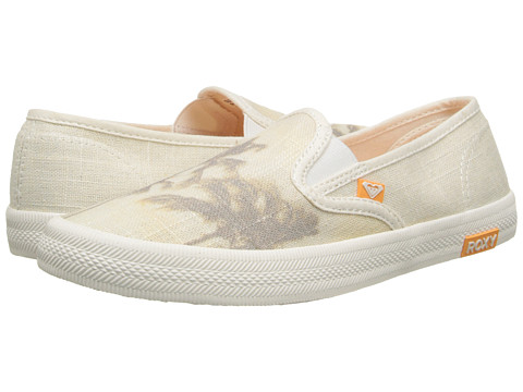 Roxy - Redondo II (Cream) Women's Slip on Shoes