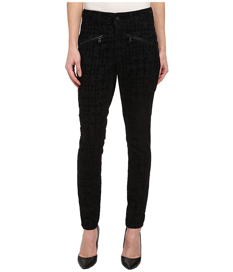 NYDJ Petite - Petite Ami Super Skinny in Houndstooth Flocking/Black (Houndstooth Flocking/Black) Women