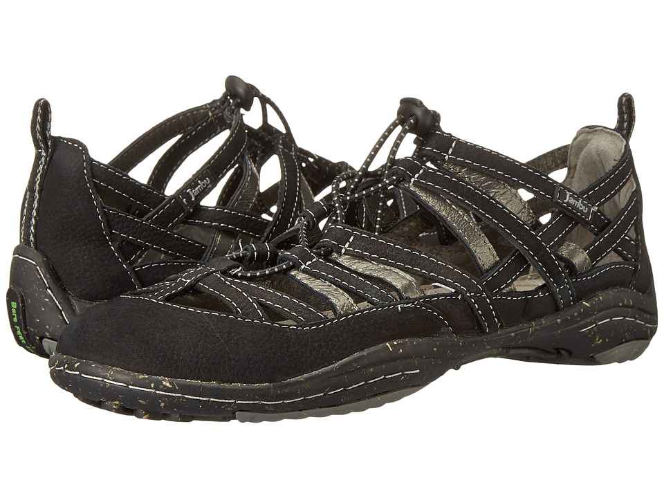 Jambu - Bangle - Barefoot (Black) Women's Flat Shoes