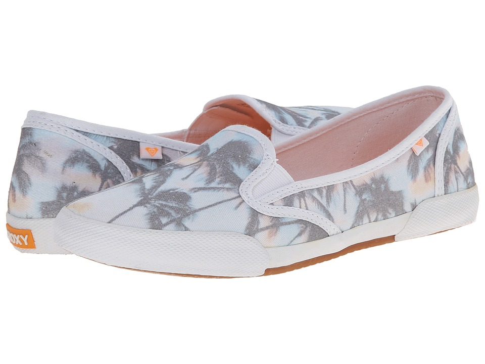 Roxy - Malibu '15 (White/Aqua) Women's Wedge Shoes