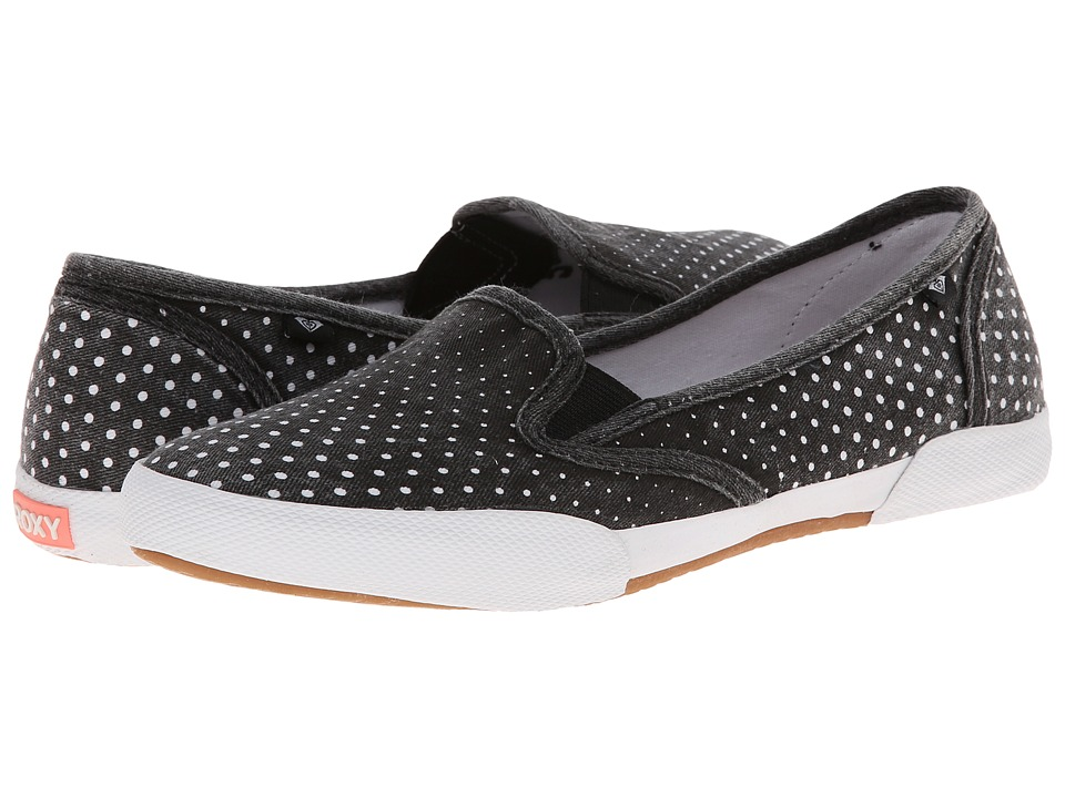 Roxy - Malibu '15 (Black/White) Women's Wedge Shoes
