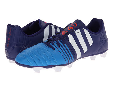 adidas - Nitrocharge 4.0 FG (Amazon Purple/White/Lucky Blue) Men's Soccer Shoes