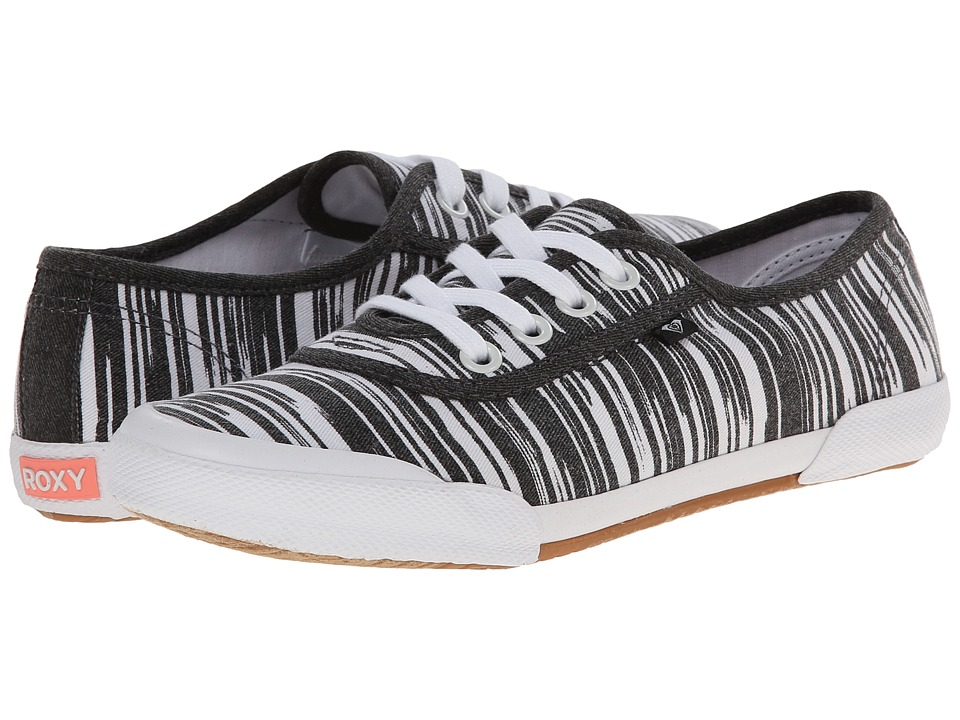 Roxy - Santa Cruz (Black/White) Women's Slip on Shoes