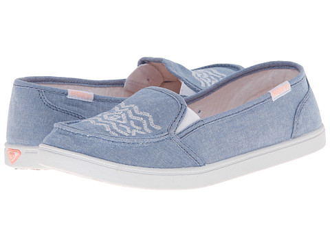 Roxy - Lido III (Blue) Women's Slip on Shoes