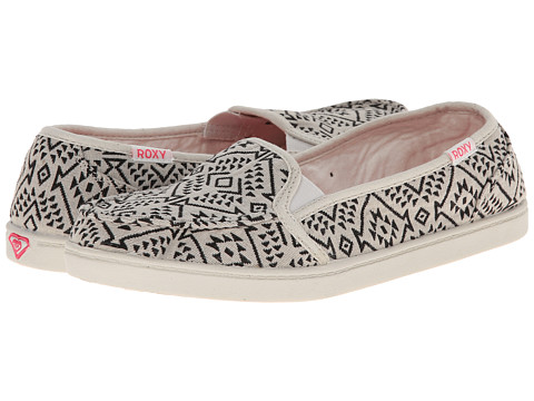 Roxy - Lido III (Black Wash) Women's Slip on Shoes