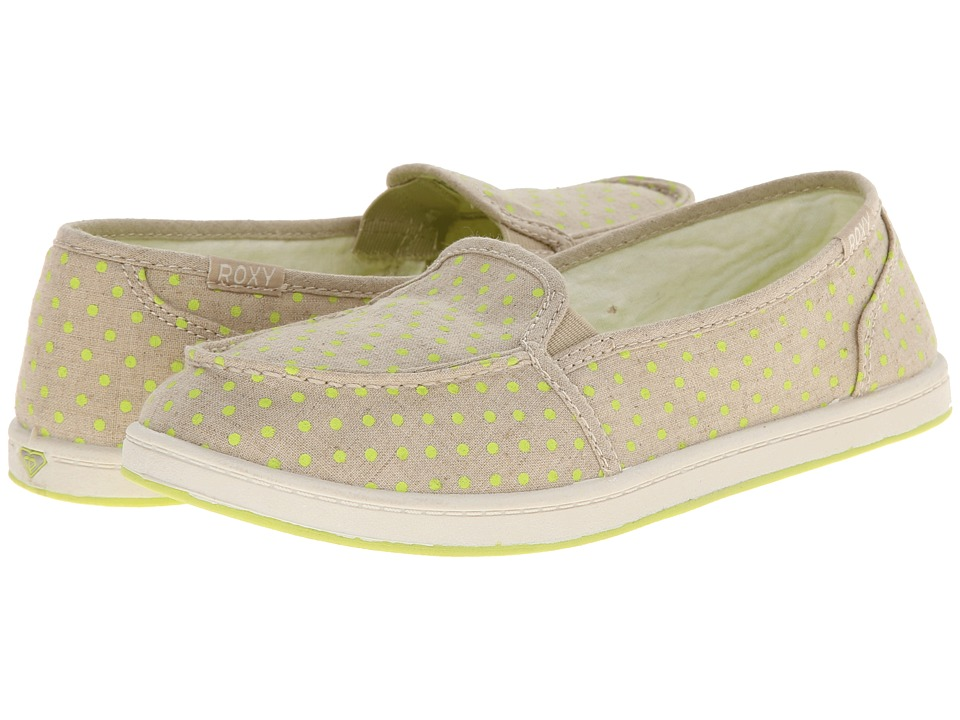 Roxy - Lido Pop (Khaki) Women's Slip on Shoes