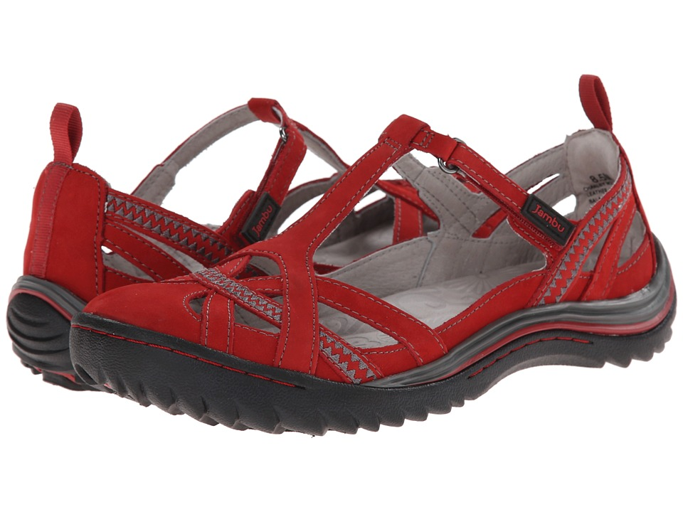 Jambu - Charley (Red) Women's Sandals