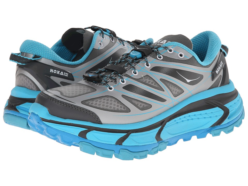 Hoka One One - Mafate Speed (Grey/Blue Atoll) Women's Running Shoes