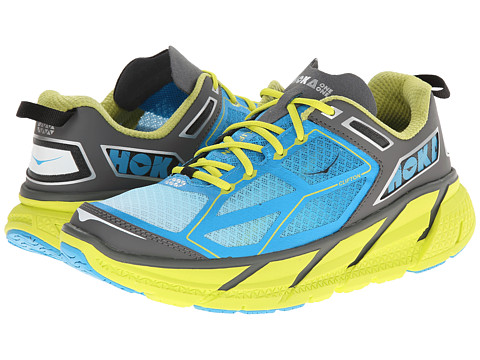 Hoka One One - Clifton (Citrus/Cyan/Grey) Men's Running Shoes