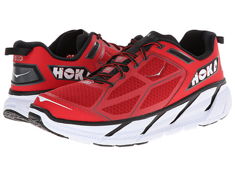 Hoka One One - Clifton (True Red/Black) Men's Running Shoes