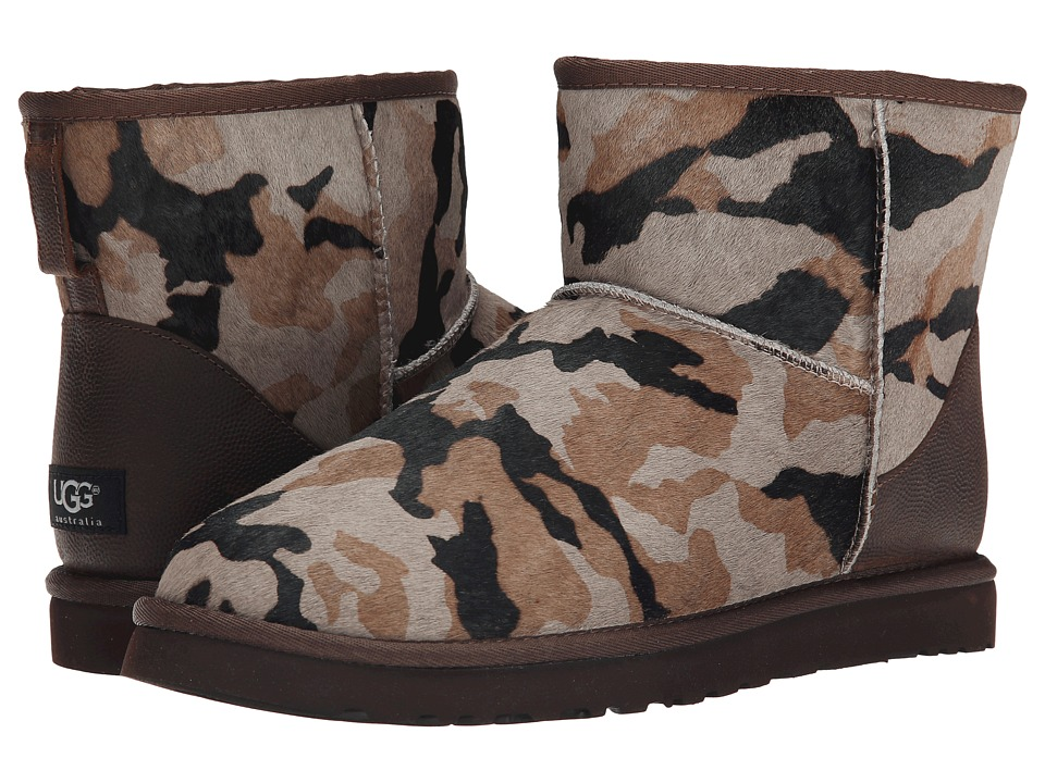 UGG - Classic Mini Camo (Seal Camo Calf Hair/Leather) Men
