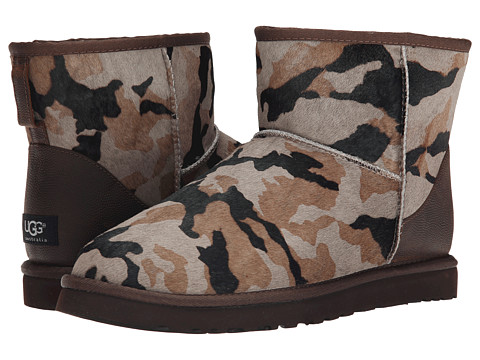 UGG - Classic Mini Camo (Seal Camo Calf Hair/Leather) Men's Boots