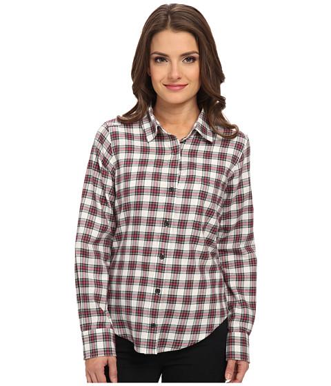 Pendleton - Petite Felicia Flannel Shirt (Ivory Stewart Plaid Shirting) Women