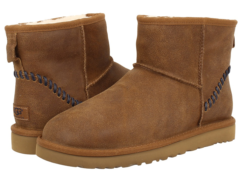 UGG - Classic Mini Deco (Chestnut Leather 1) Men's Boots