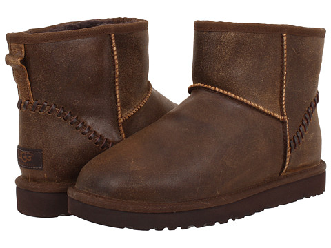 UGG - Classic Mini Deco (Chocolate Leather) Men's Boots
