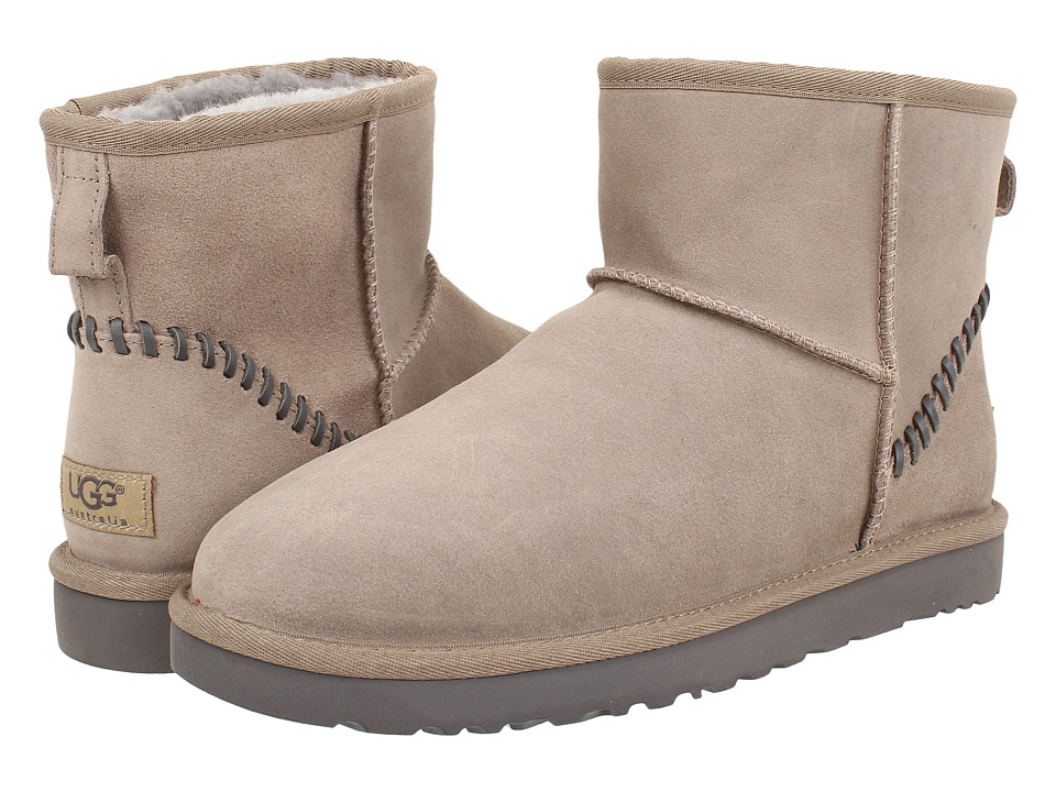 UGG - Classic Mini Deco (Stone Leather) Men's Boots