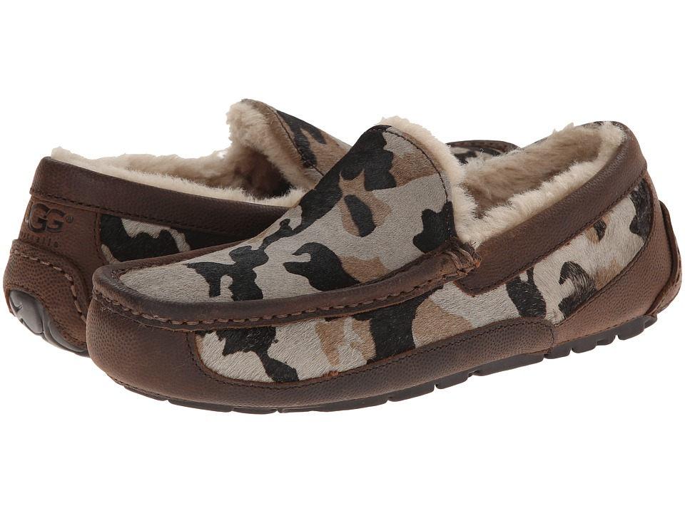 UGG - Ascot Camo (Seal Camo Calf Hair/Leather) Men's Slip on Shoes