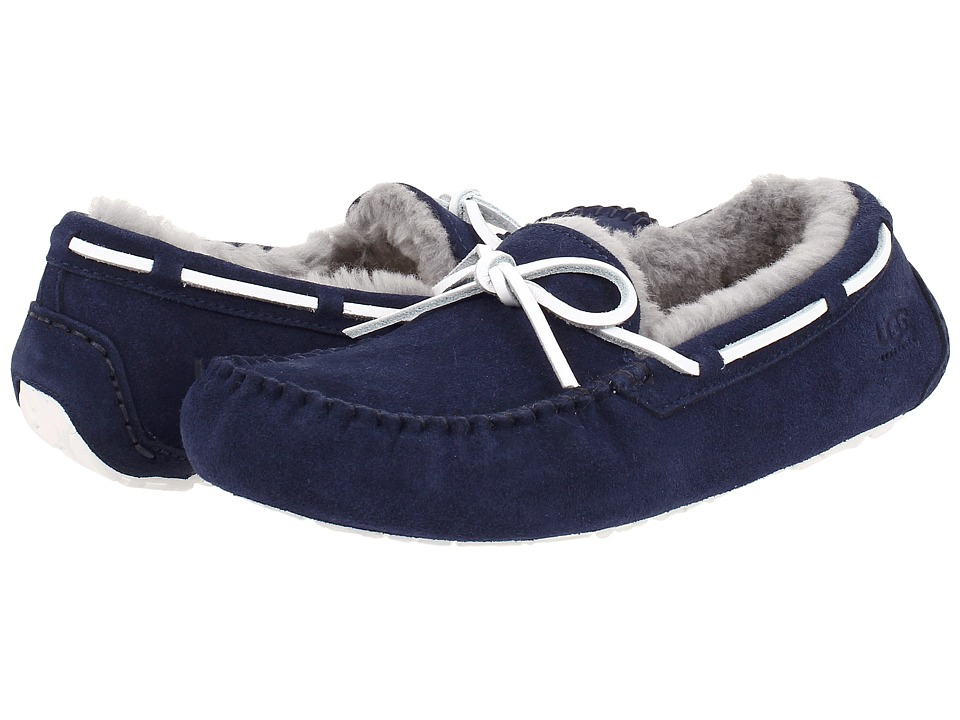 UGG - Olsen (Navy Suede) Men's Slip on Shoes
