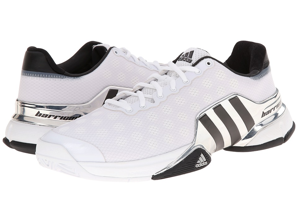 adidas - Barricade 2015 (White/Black/Bright Red) Men's Tennis Shoes