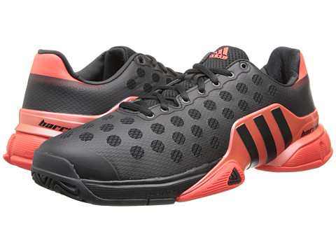 adidas - Barricade 2015 (Black/Bright Red) Men's Tennis Shoes