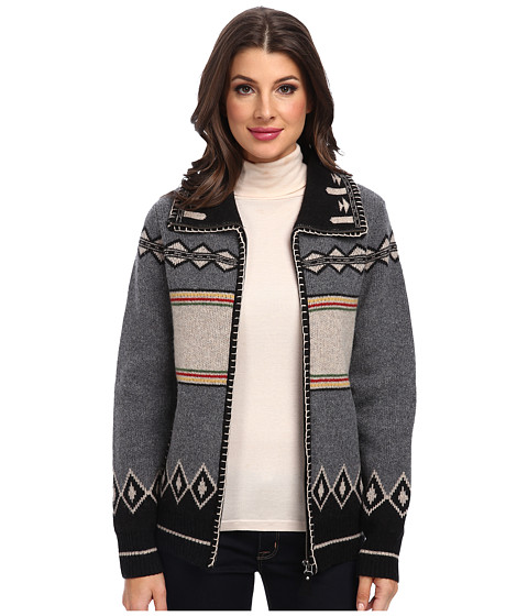 Pendleton - Tee Pee Cardigan (Grey Heather Multi) Women's Sweater