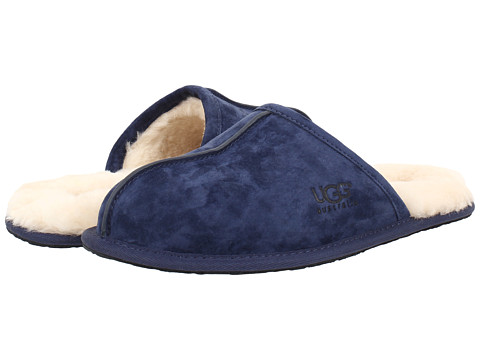 UGG - Scuff (New Navy Suede) Men's Slippers