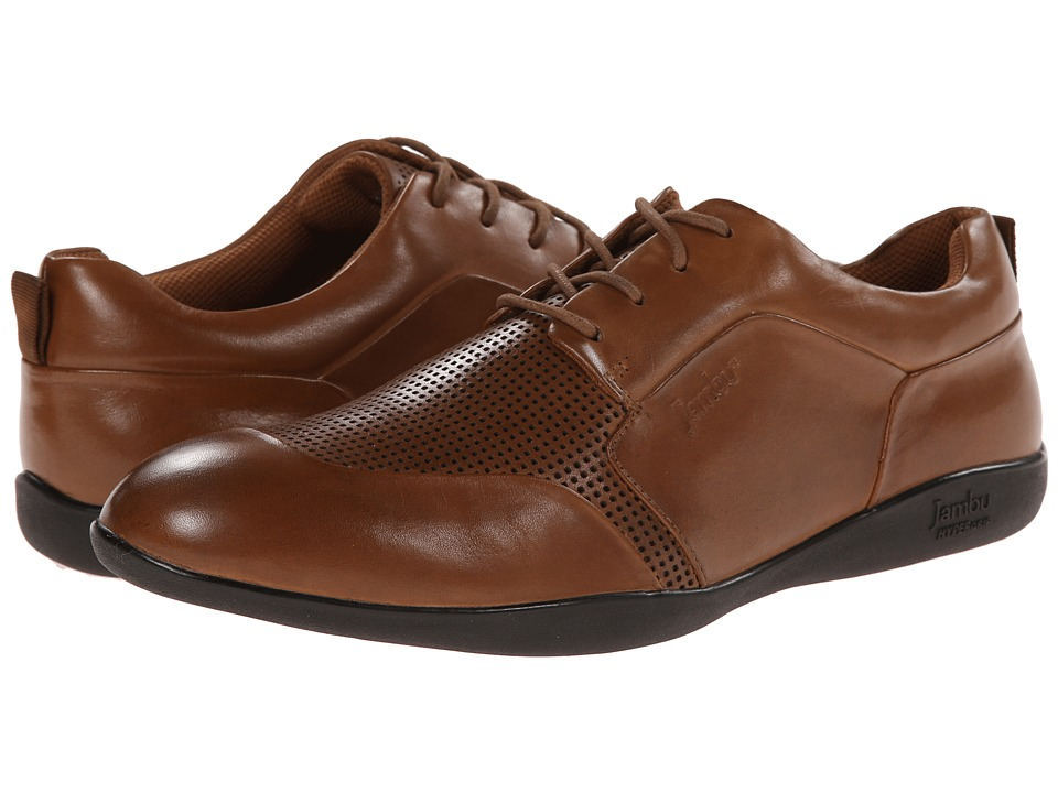 Jambu - Munich - Hyper Grip (Chestnut) Men's Dress Flat Shoes