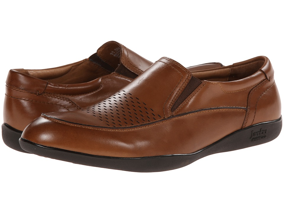 Jambu - Belfast - Hyper Grip (Chestnut) Men's Dress Flat Shoes