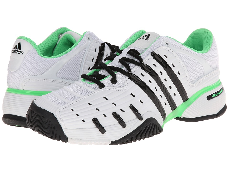 adidas - Barricade V Classic (White/Black/Flash Green) Men