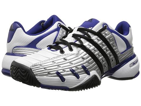 adidas - Barricade V Classic (Silver Metallic/Black/Amazon Purple) Men's Tennis Shoes