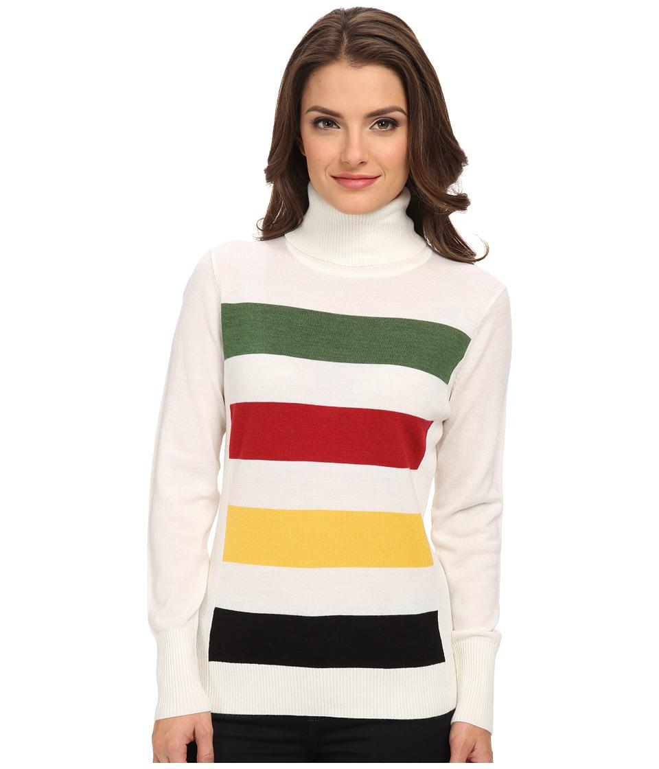 Pendleton - Petite Park Stripe Pullover (Ivory Multi) Women