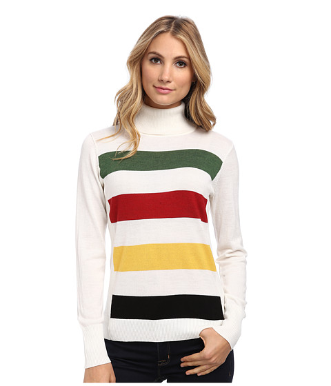 Pendleton - Park Stripe Pullover (Ivory Multi) Women